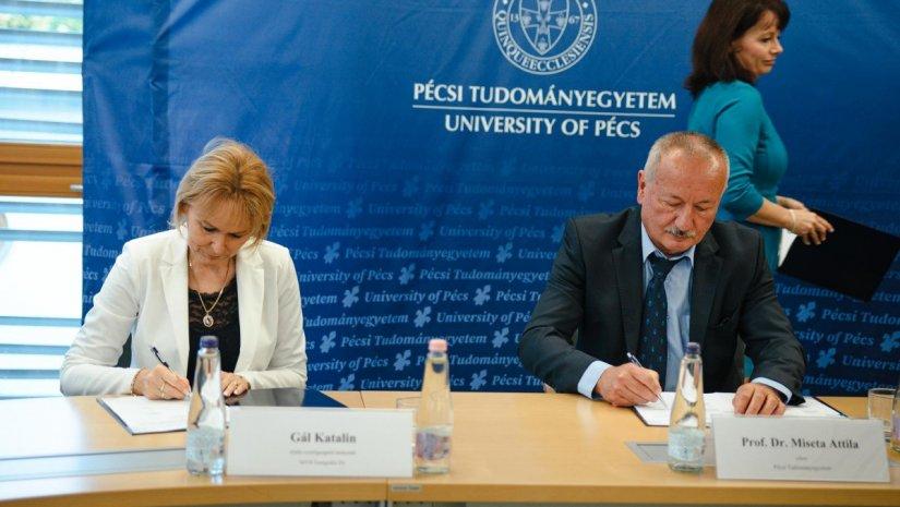 Új szintre lépett a PTE és az MVM közötti együttműködés