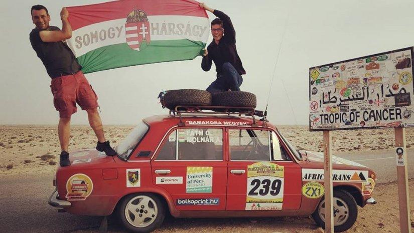 """9183 km után beértek a célba Afrikában a PTE """"nagykövetei""""!"""