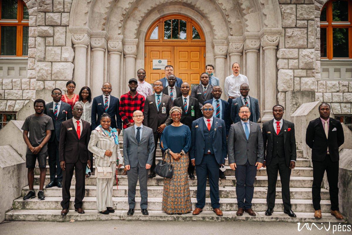 Nigerian Delegation at the University of Pécs (Photo: Szabolcs Csortos)