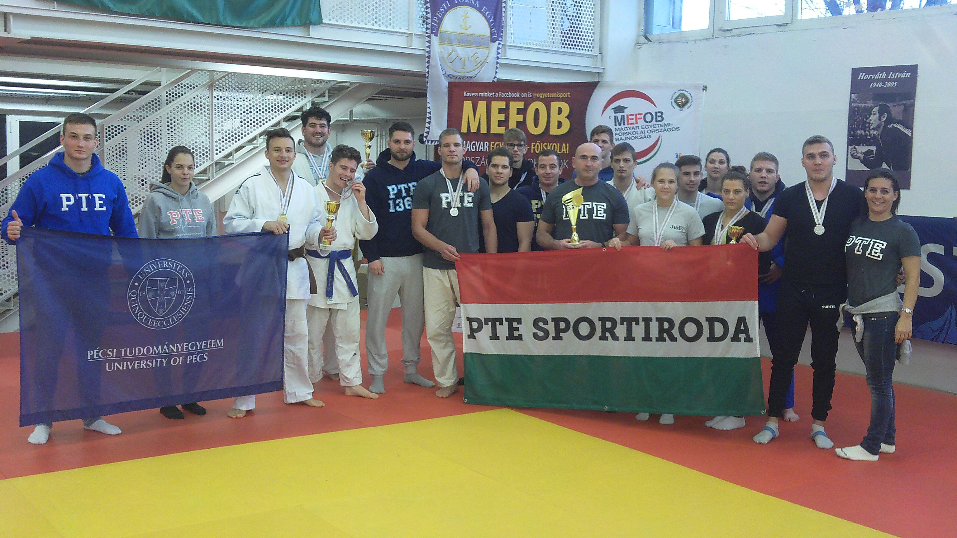 PTE-s éremeső a Judo MEFOBON!