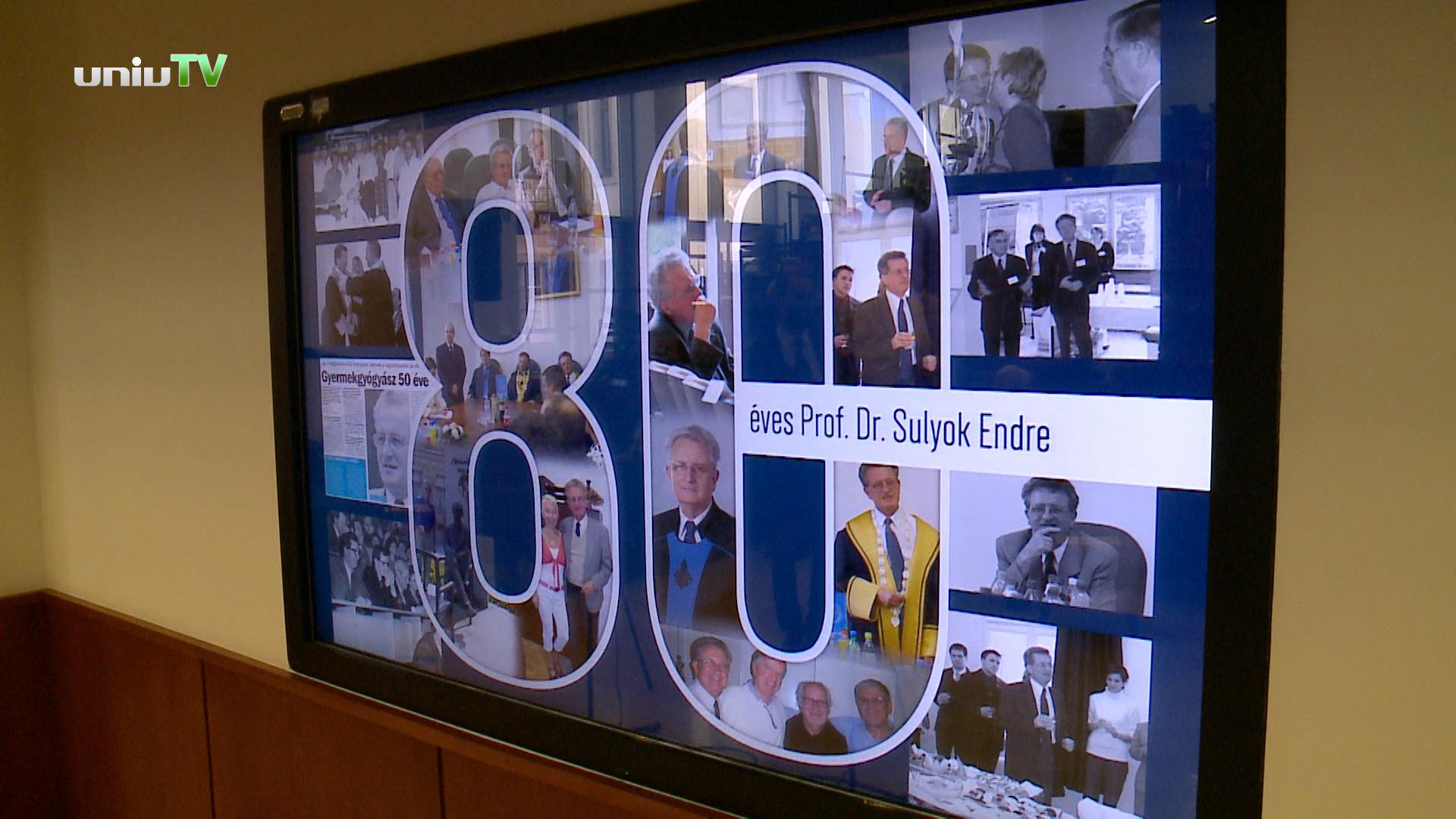 Sulyok Endre professzor 80 éves!